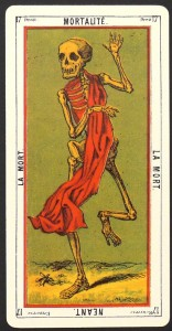 DEATH tarot egyptien grand jeu de oracles des dames