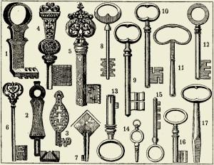 medieval keys SEPIA